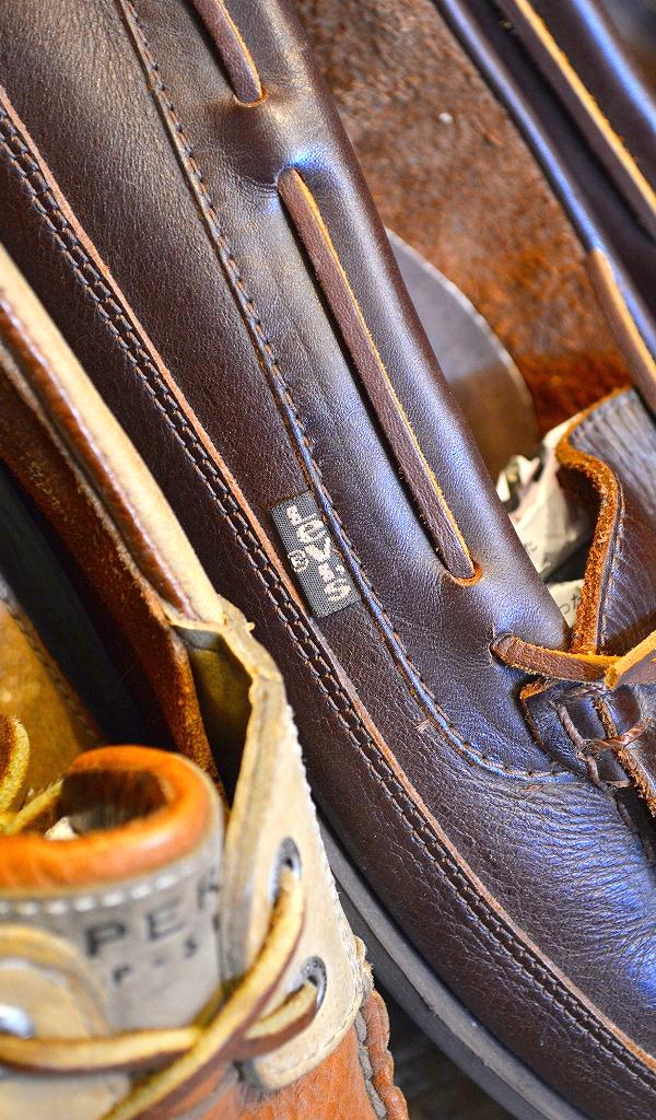 レザーデッキシューズ革靴画像メンズレディーススタイルコーデ@古着屋カチカチ02