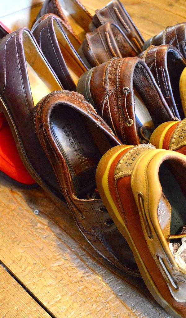 レザーデッキシューズ革靴画像メンズレディーススタイルコーデ@古着屋カチカチ06