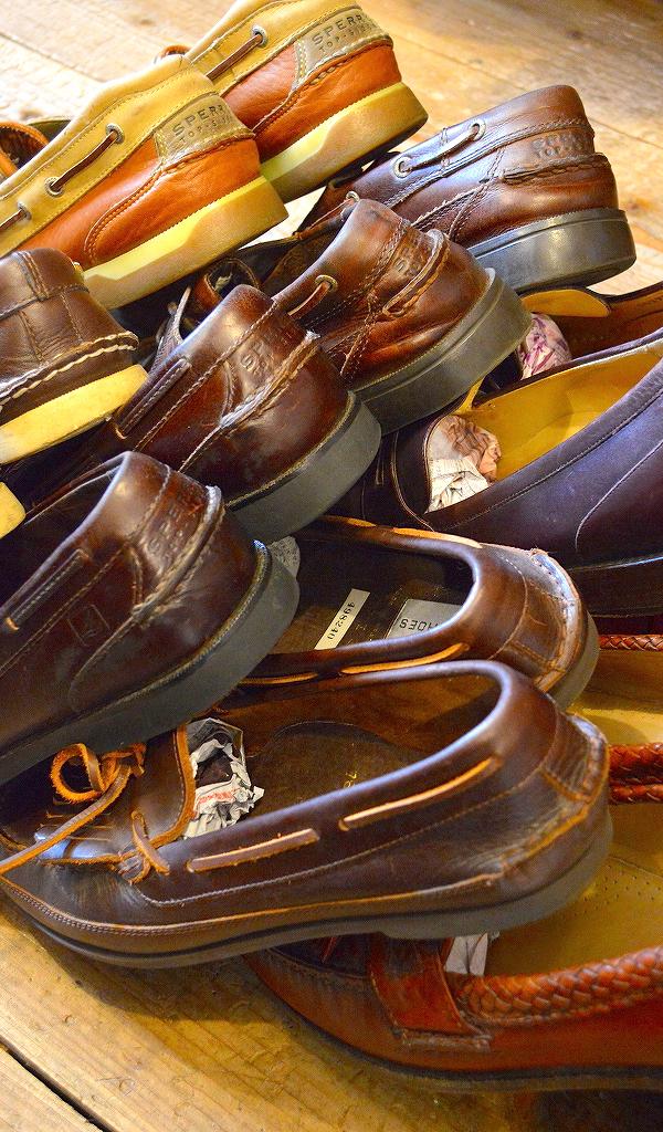 レザーデッキシューズ革靴画像メンズレディーススタイルコーデ@古着屋カチカチ04