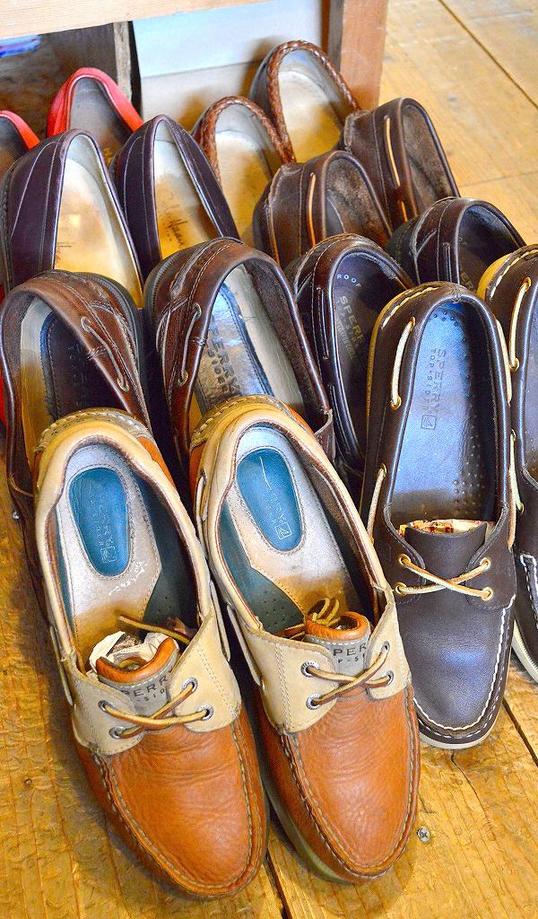 レザーデッキシューズ革靴画像メンズレディーススタイルコーデ@古着屋カチカチ08