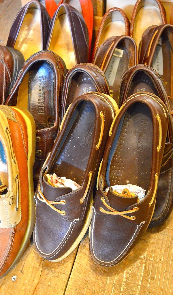 レザーデッキシューズ革靴画像メンズレディーススタイルコーデ@古着屋カチカチ09