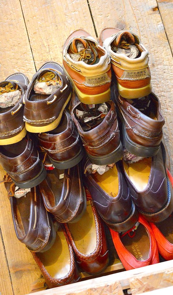 レザーデッキシューズ革靴画像メンズレディーススタイルコーデ@古着屋カチカチ010
