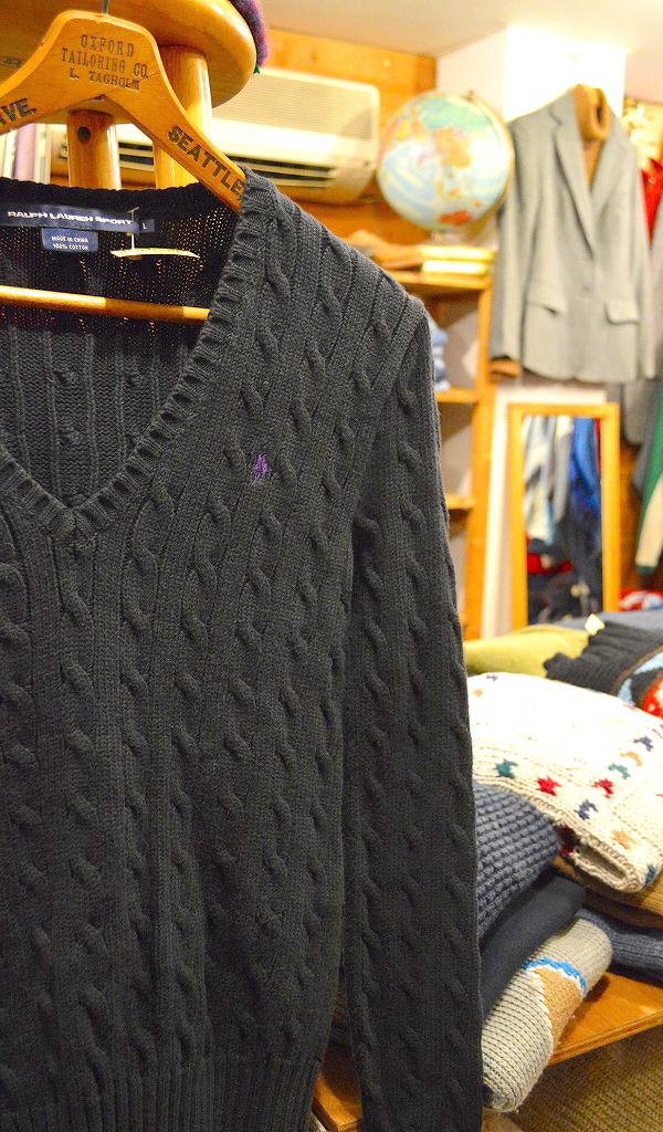 ポロラルフローレンPOLOニットセーター画像メンズレディースコーデ@古着屋カチカチ01