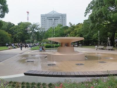 人がいっぱいの豊橋公園