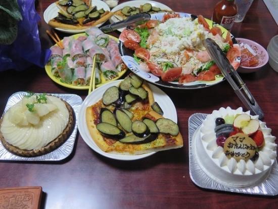 誕生日の食卓