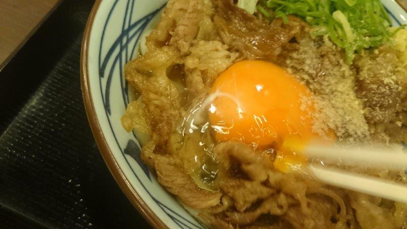 牛スキ釜玉 (3)