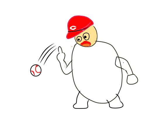 落ちるボール