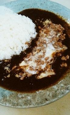 納豆チーカレー