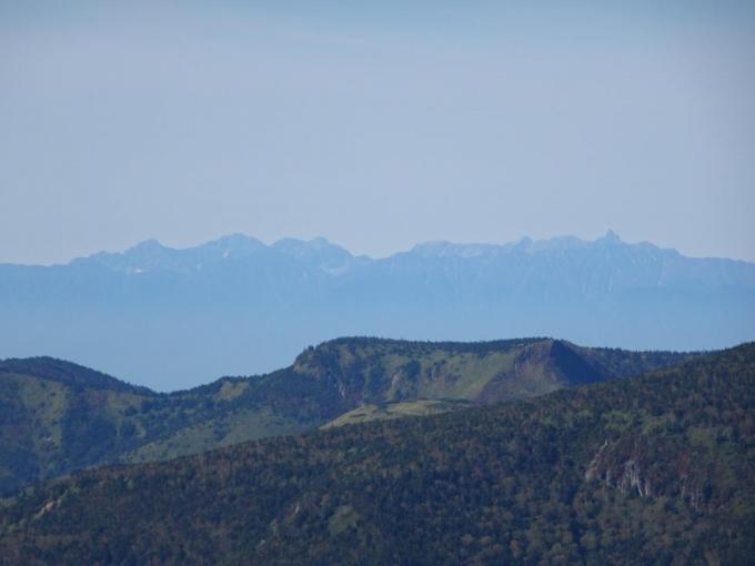 槍ヶ岳から穂高連峰