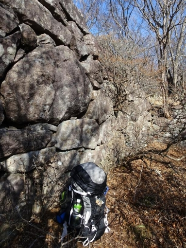 西側の石積み 高さは2.2m