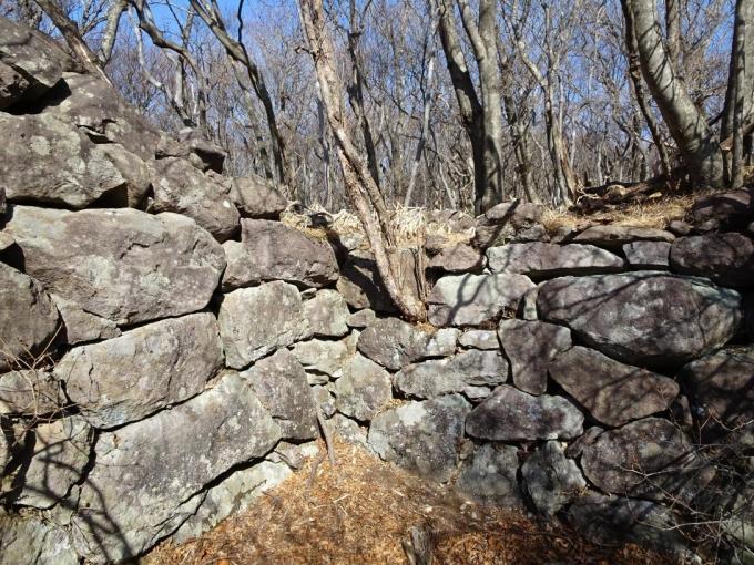北側の石積み