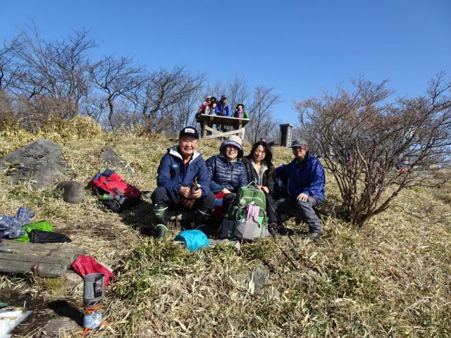 山頂で記念のワンショット