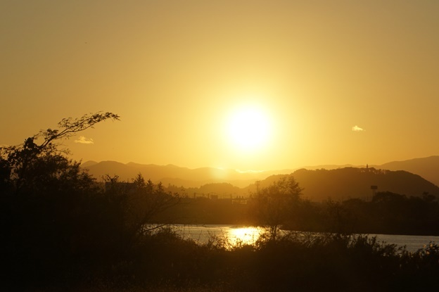 夕日がきれい