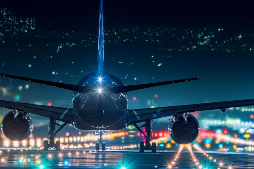 大阪国際空港 離陸前 (1)