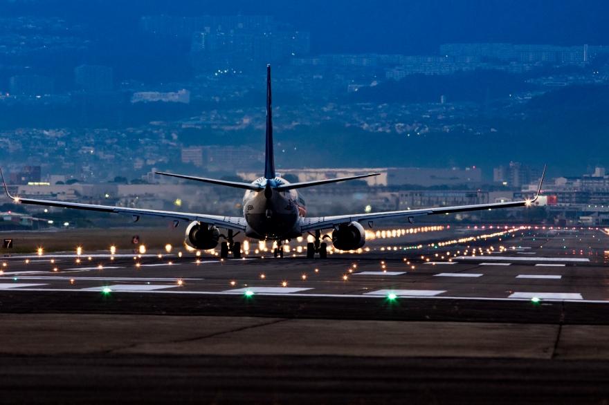 大阪国際空港 離陸前 (2)