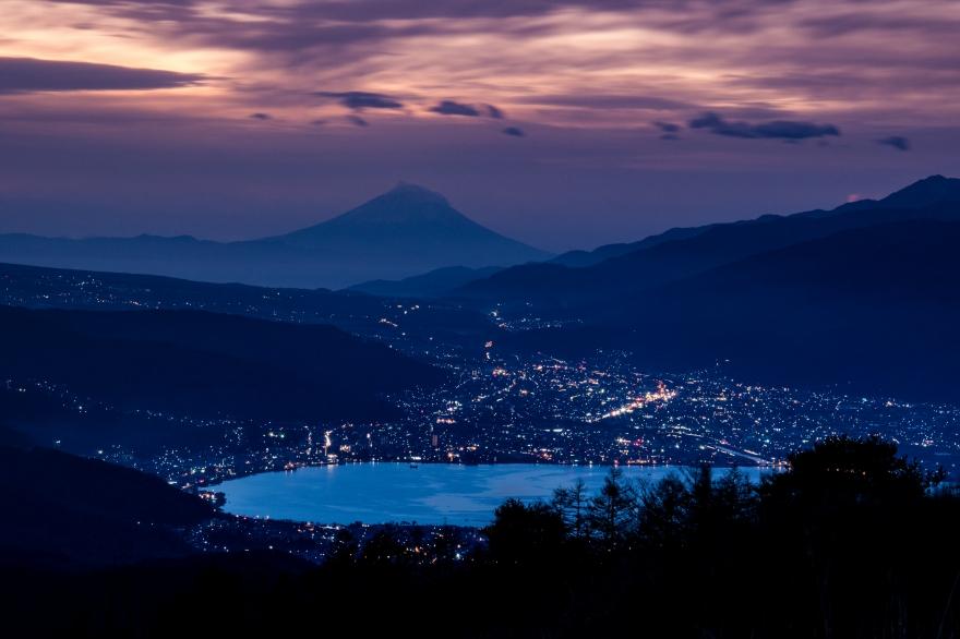 諏訪湖と富士山 (3)