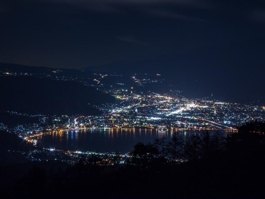 諏訪湖の夜景
