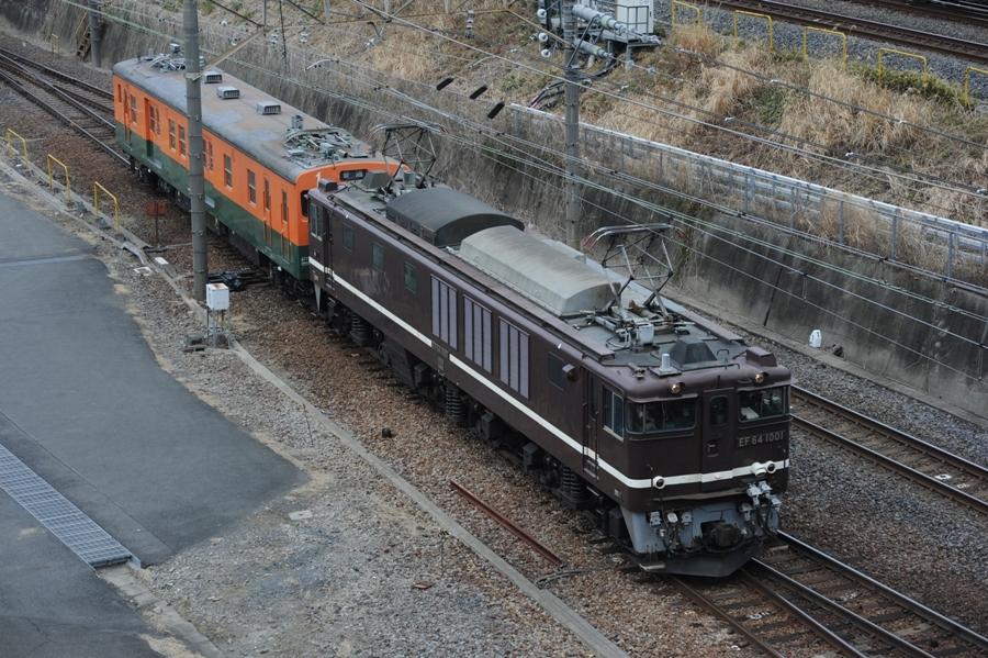 EF64 1001+クモヤ143