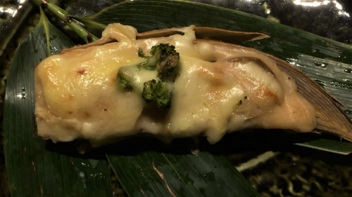 竹の子釜の味噌チーズ焼き(ブロッコリー)