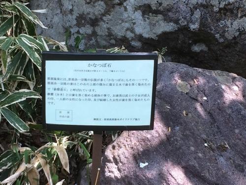 かなつぼ石の説明
