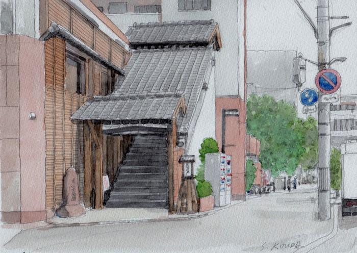淀川区にて 焼き肉店の玄関 (700x496)