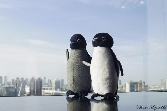 テレコムセンター展望台のsuicaペンギン写真