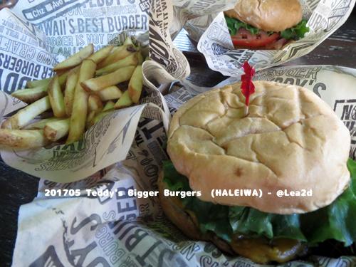 201705 ハレイワのTeddy's Bigger Burgers でハンバーガーを食す