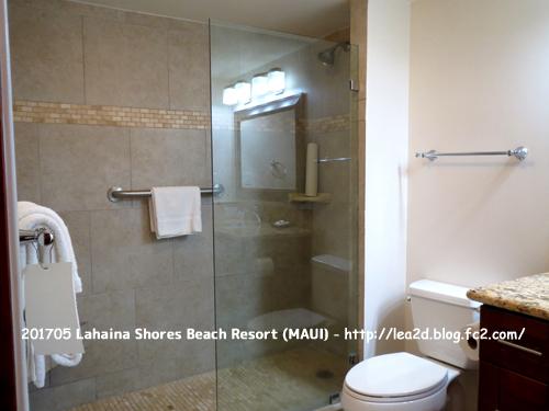 201705  Lahaina Shores Beach Resort 【ラハイナ ショアーズズ ビーチ リゾート】 その1 バスルーム