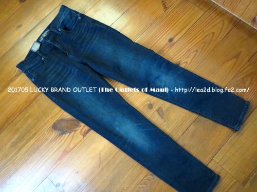 201705 マウイ島、ラハイナのLucky Brand Jeans(ラッキーブランドジーンズ)アウトレット店で買ったジーンズ、ベルト、トップス