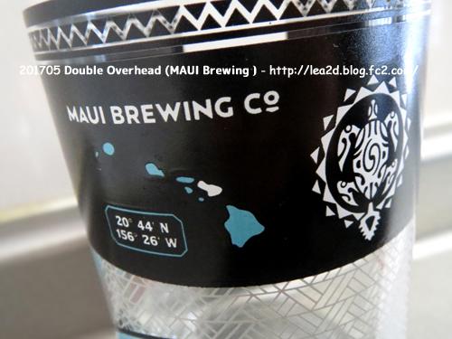 201705 Maui Brewing Co(マウイ・ブリューイング・カンパニー)のCAN GLASS - Double Overhead  (ダブルオーバーヘッド) がかわいい