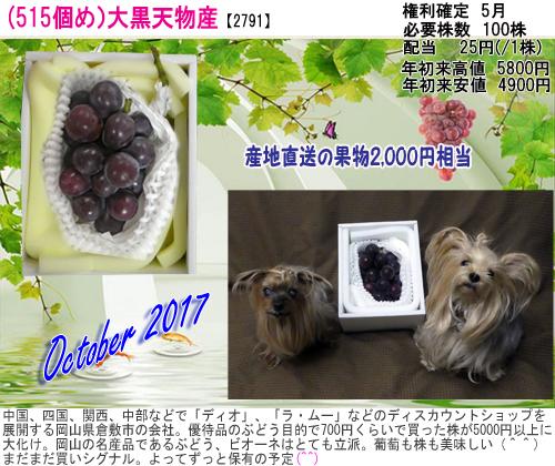 (515)2017年10月到着 大黒天物産 のコピー