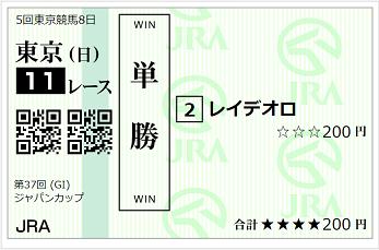 投資競馬_ジャパンカップ
