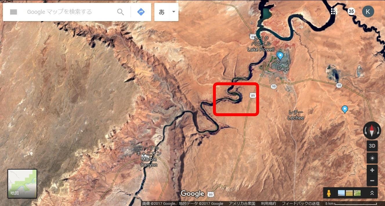 ホースシューベント衛星写真