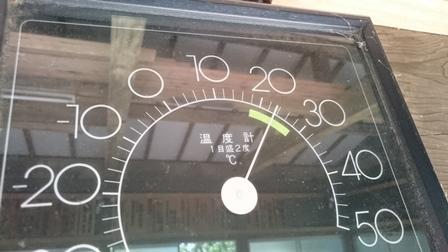 七面山 温度計