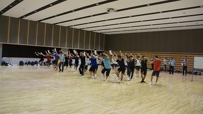 叡明阿波踊り練習