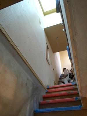 koyokan3階段と天窓1709