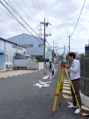 hitachisouko敷地測量1712