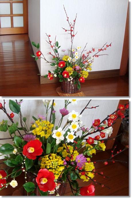 粘土冬の花