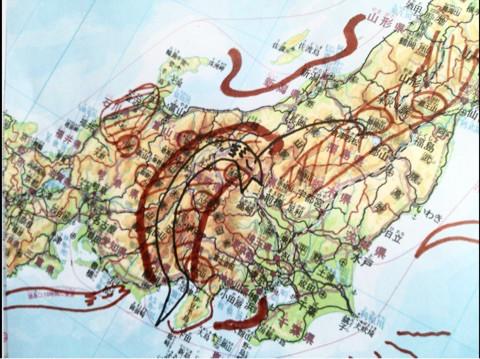 こってて 日本中部地図 2017