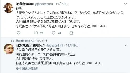 福島沖M8-9