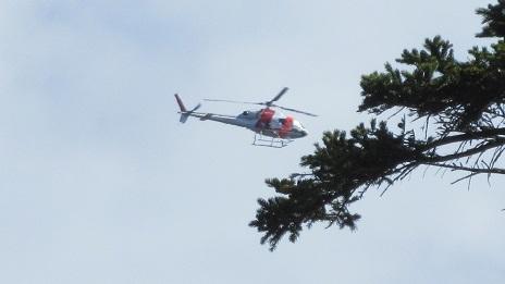 2 ヘリコプターが飛んでいた 拡大