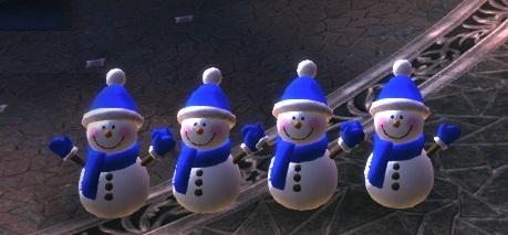雪だるま4人