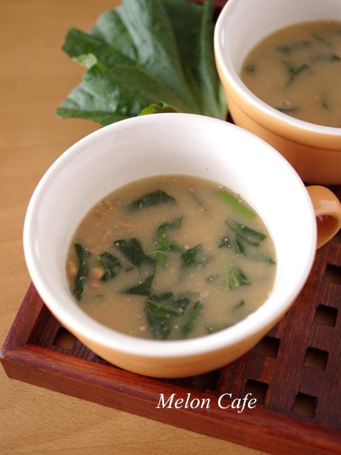 おかのりと納豆の味噌汁