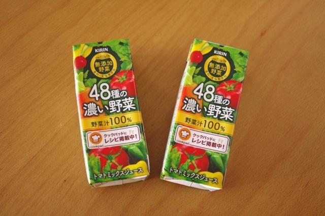二層のゼリー野菜ジュースと桃缶00
