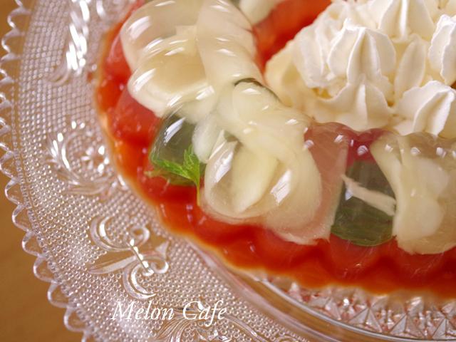 二層のゼリー野菜ジュースと桃缶05