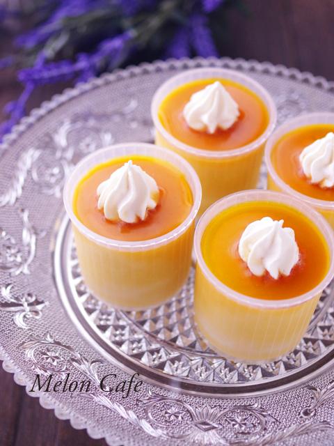 簡単かぼちゃプリンでハロウィンスイーツ