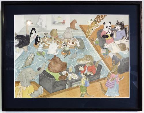 犬カフェ展示4