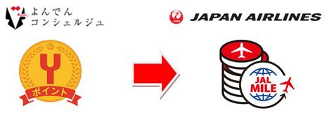 よんでんポイントが「JALのマイル」へ交換可能に!提携記念でもれなく500マイルプレゼントも!