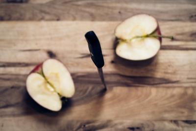不可逆性 りんご 切る