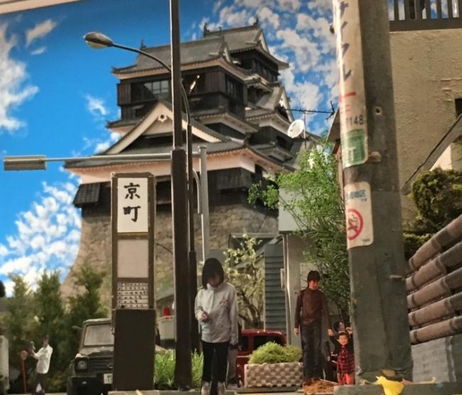 熊本城が見える日常風景 (2)